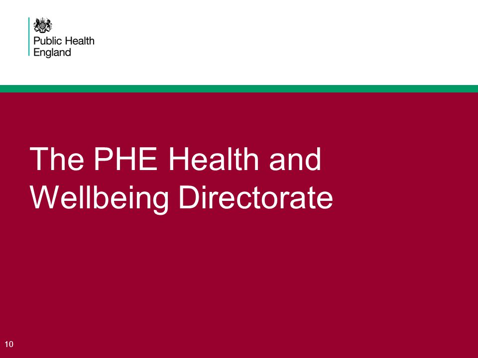The PHE Health and Wellbeing Directorate