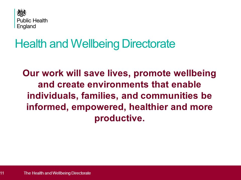 Health and Wellbeing Directorate