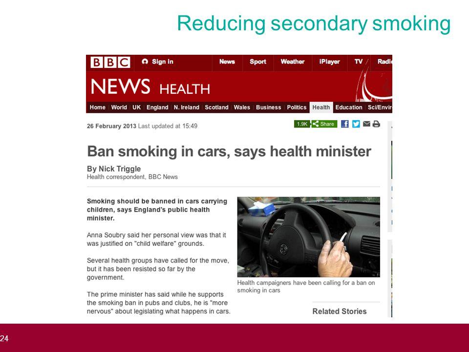 Reducing secondary smoking