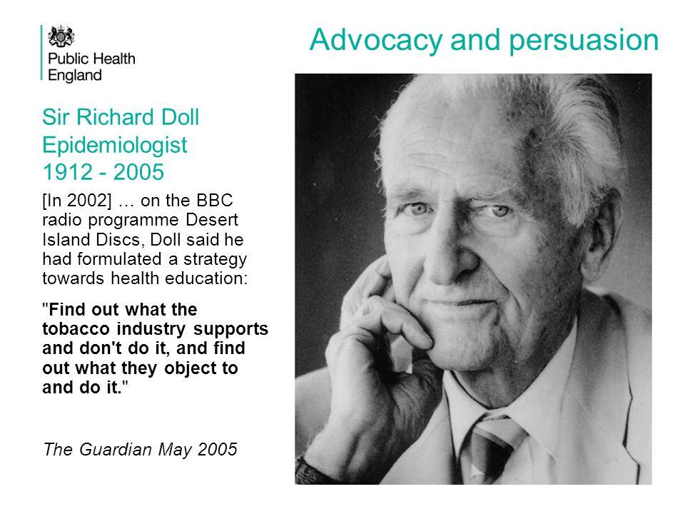 Sir Richard Doll Epidemiologist 1912 - 2005