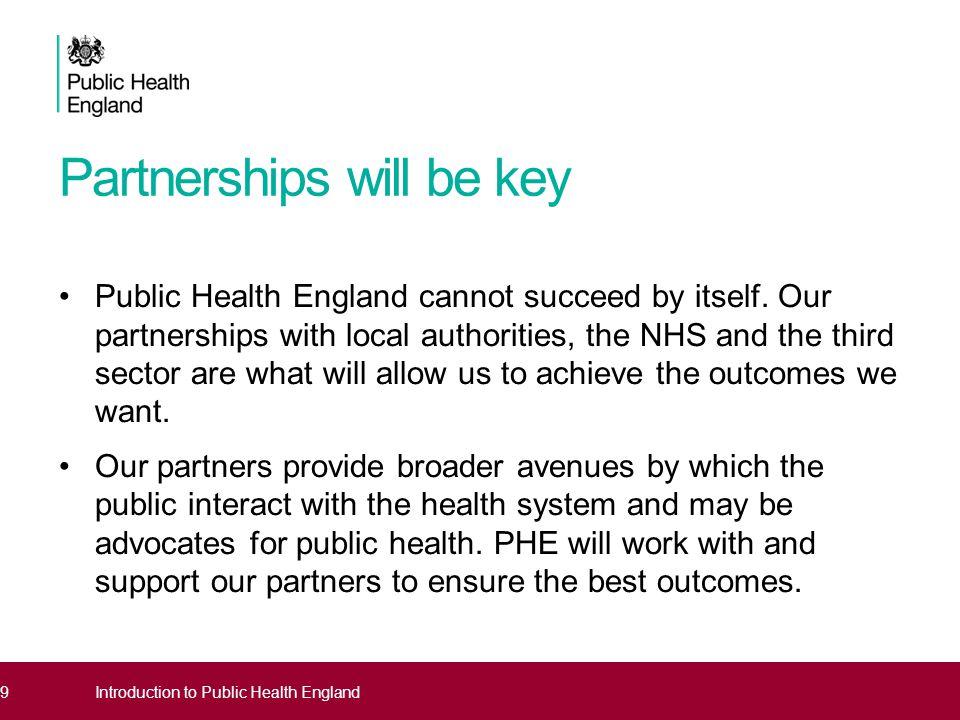 Partnerships will be key