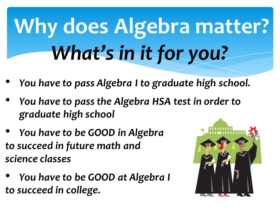 Why does Algebra matter