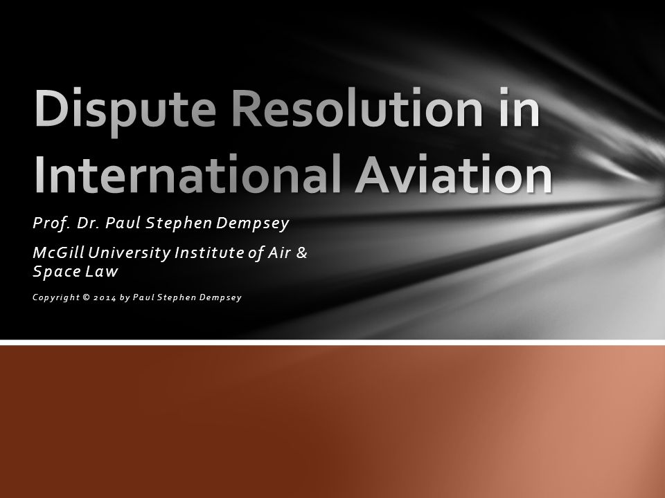 Dispute Resolution in International Aviation