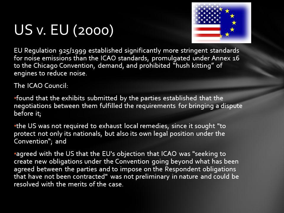 US v. EU (2000)