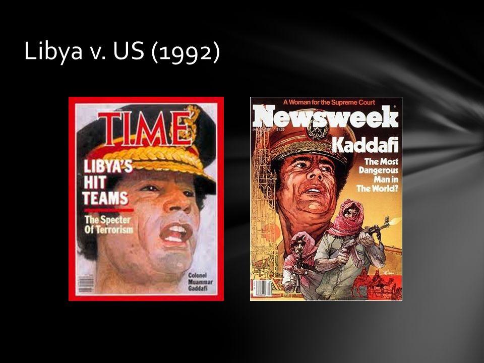 Libya v. US (1992)