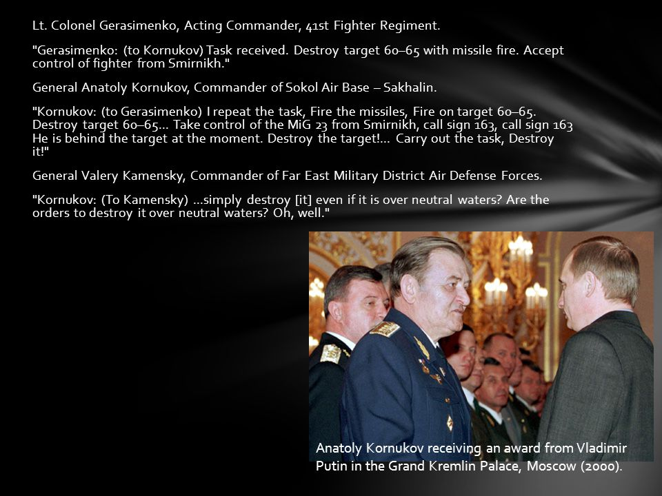 Lt. Colonel Gerasimenko, Acting Commander, 41st Fighter Regiment