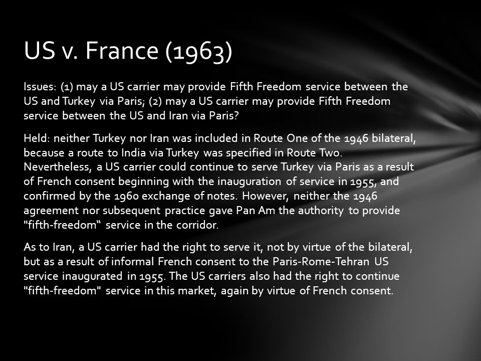 US v. France (1963)