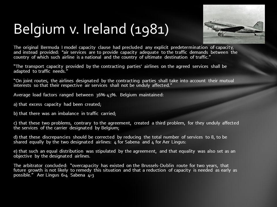 Belgium v. Ireland (1981)