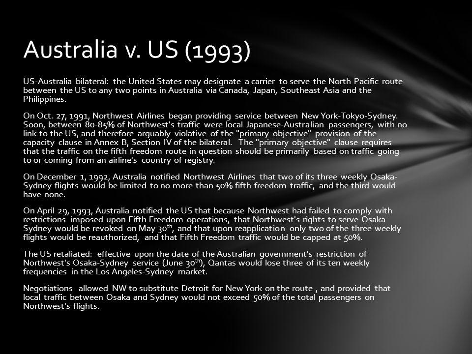 Australia v. US (1993)