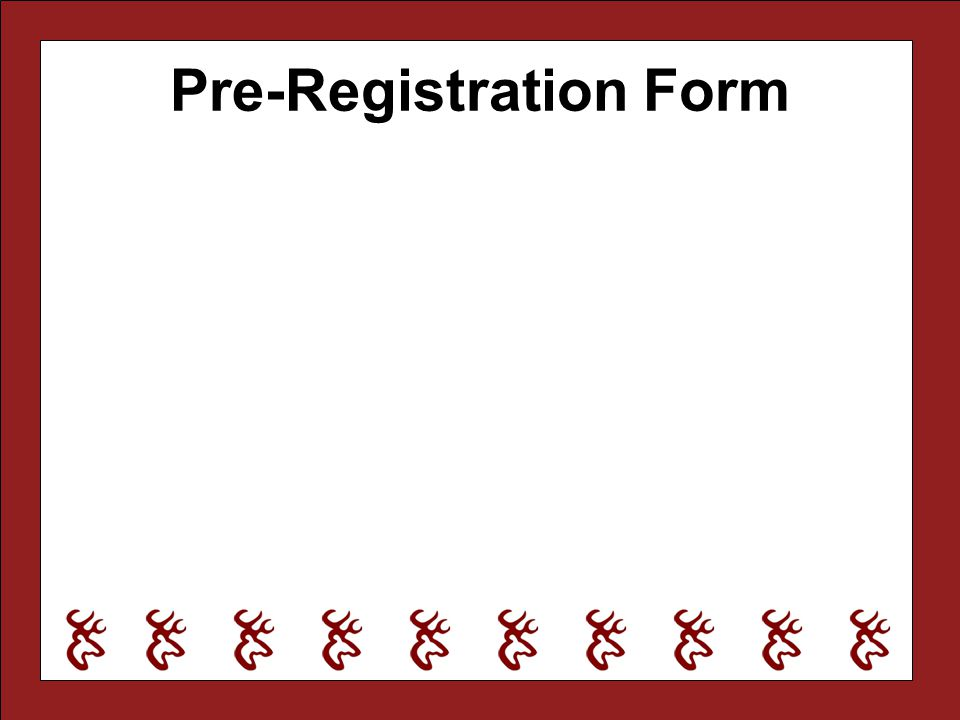 Pre-Registration Form