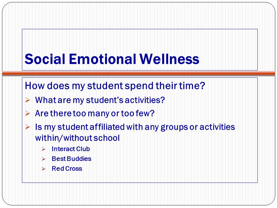 Social Emotional Wellness