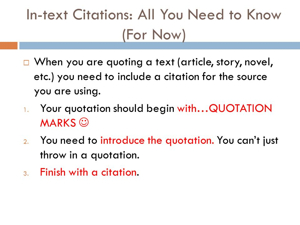 In-text Citations: All You Need to Know (For Now)