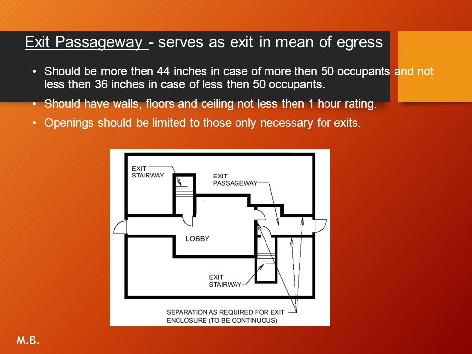 Exit Passageway - serves as exit in mean of egress