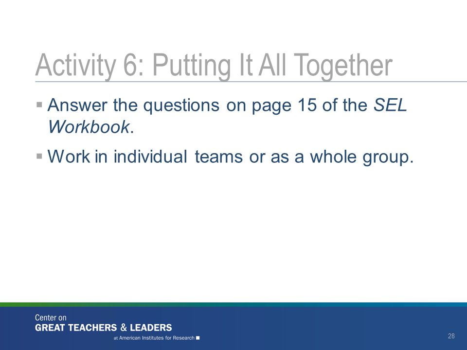 Activity 6: Putting It All Together