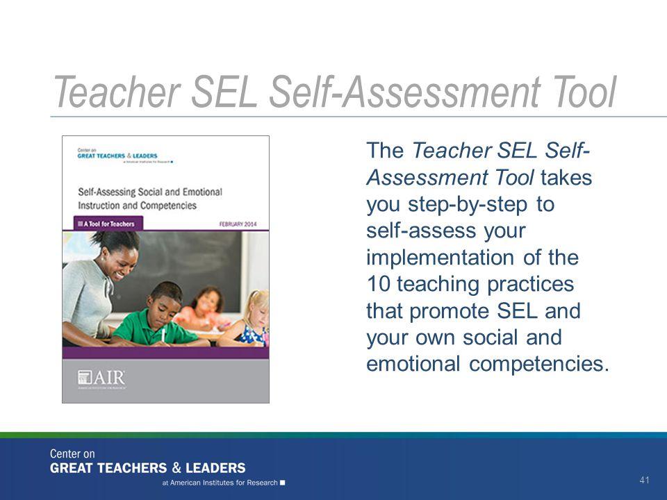 Teacher SEL Self-Assessment Tool
