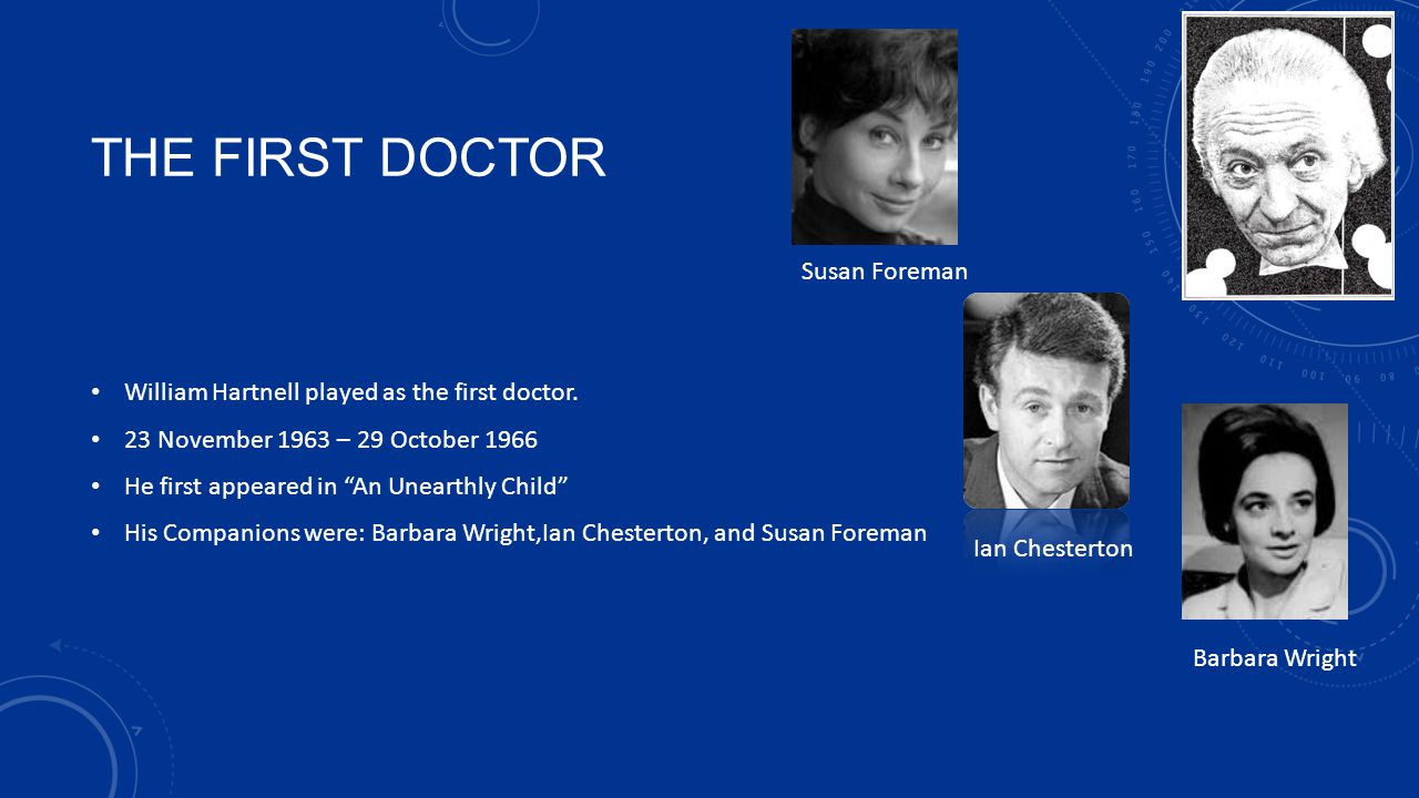 THE FIRST DOCTOR Susan Foreman