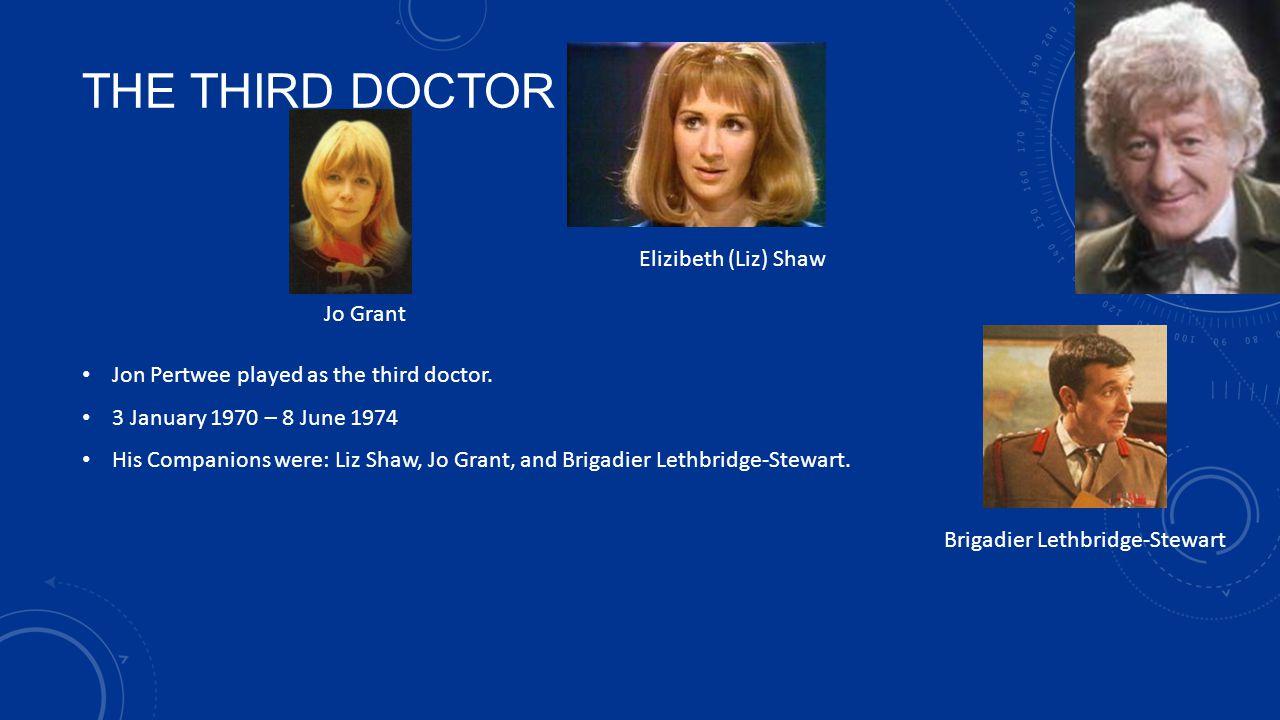 THE THIRD DOCTOR Elizibeth (Liz) Shaw