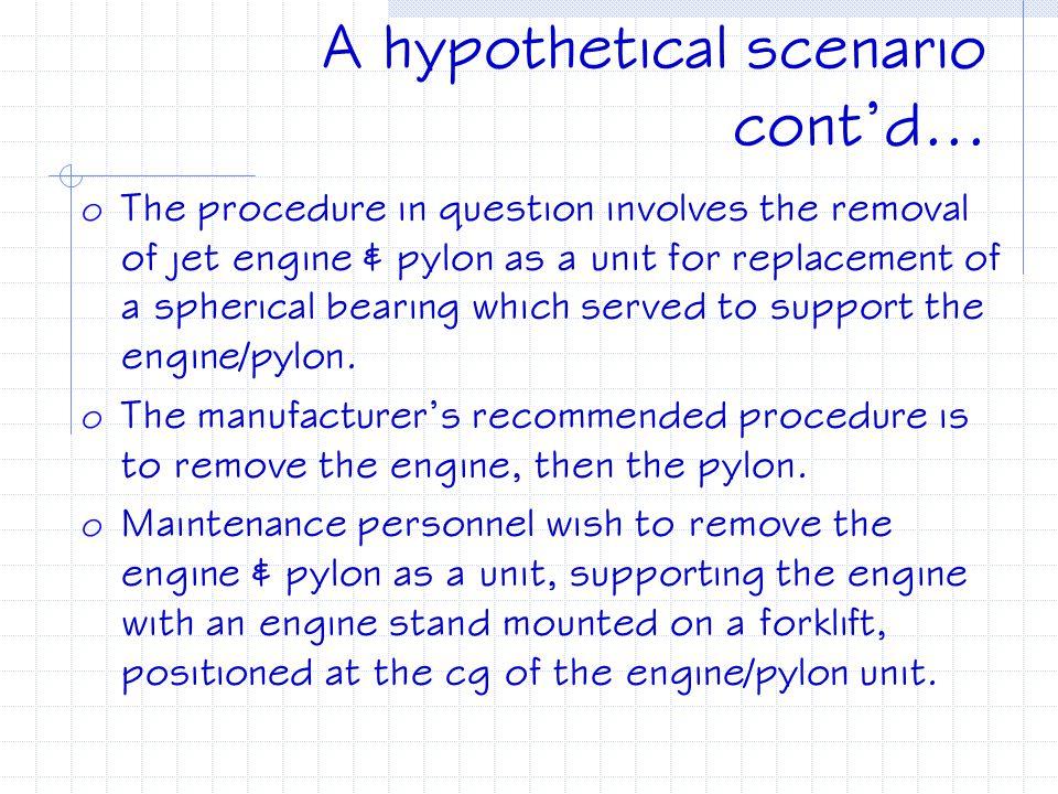A hypothetical scenario cont'd...