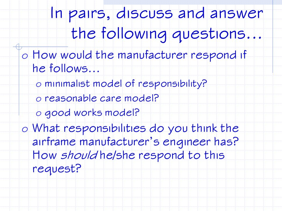 In pairs, discuss and answer the following questions...