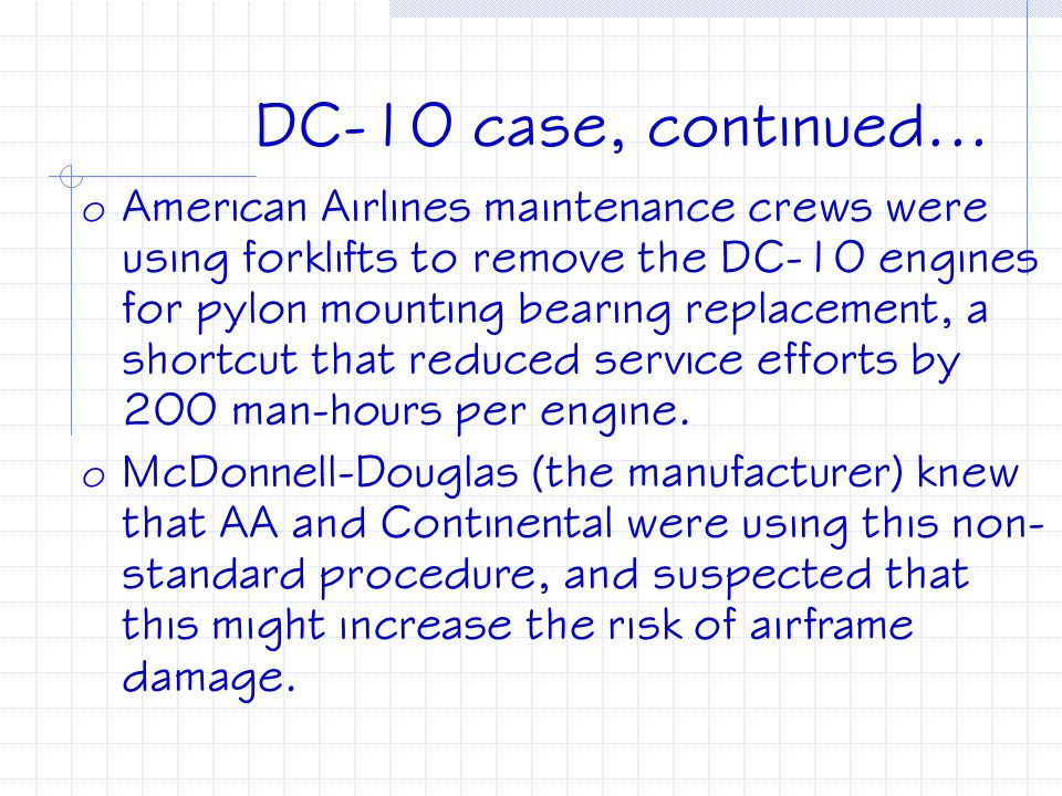 DC-10 case, continued...