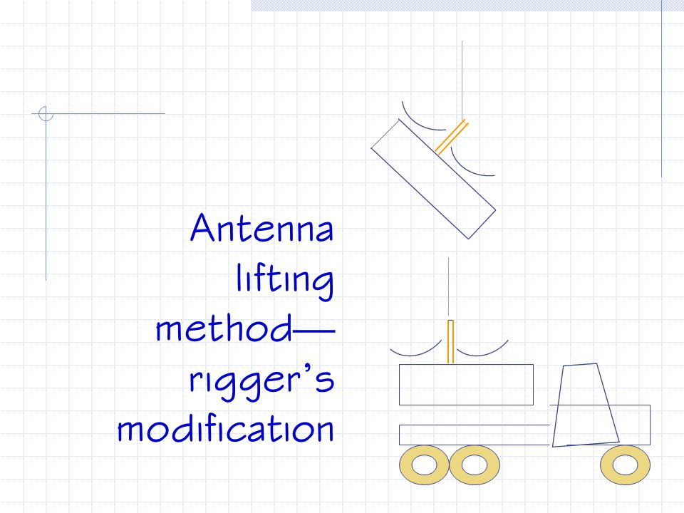 Antenna lifting method—rigger's modification