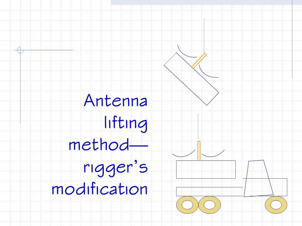 Antenna lifting method—rigger's modification