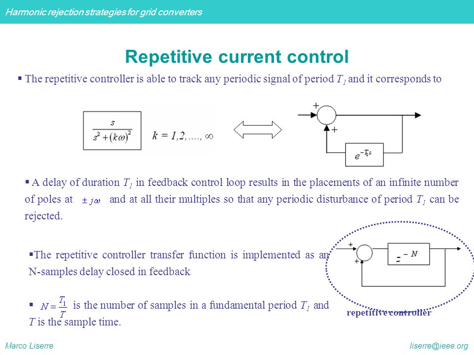 Repetitive current control