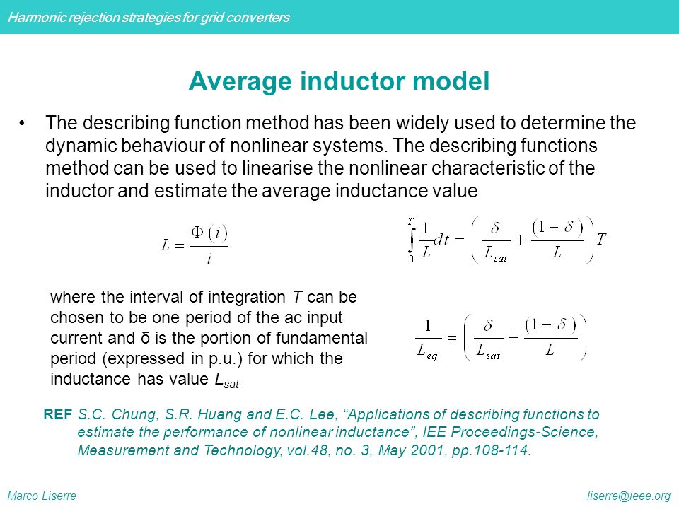Average inductor model