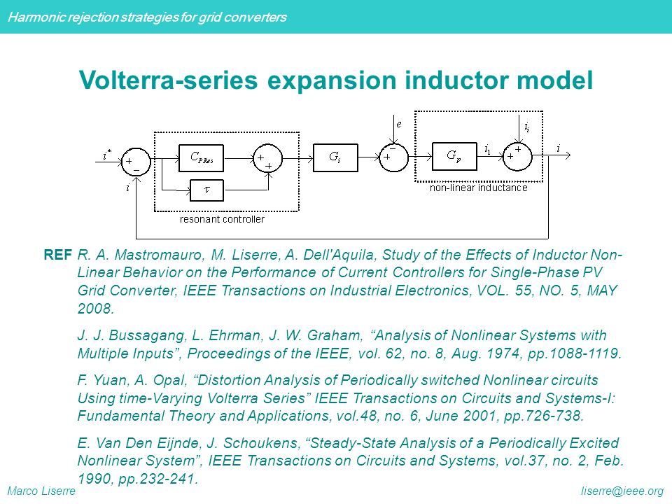 Volterra-series expansion inductor model