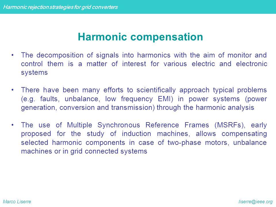 Harmonic compensation