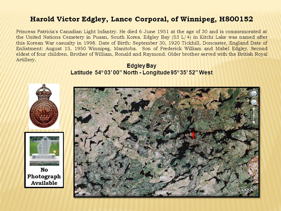 Harold Victor Edgley, Lance Corporal, of Winnipeg, H800152