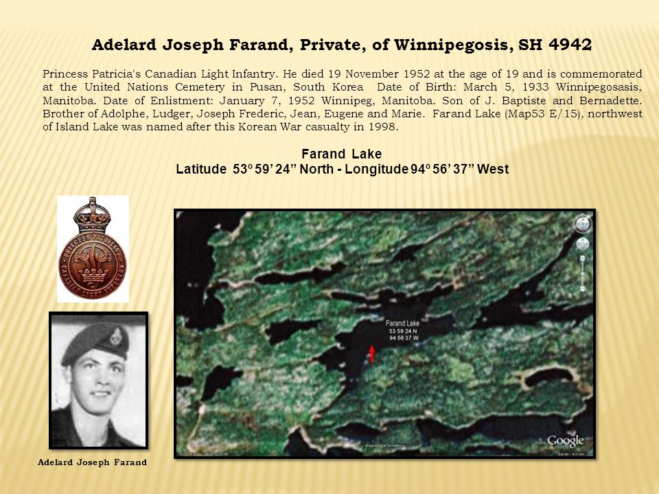 Adelard Joseph Farand, Private, of Winnipegosis, SH 4942