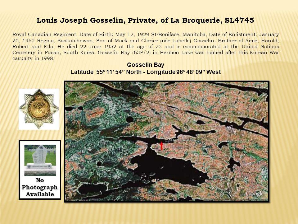 Louis Joseph Gosselin, Private, of La Broquerie, SL4745
