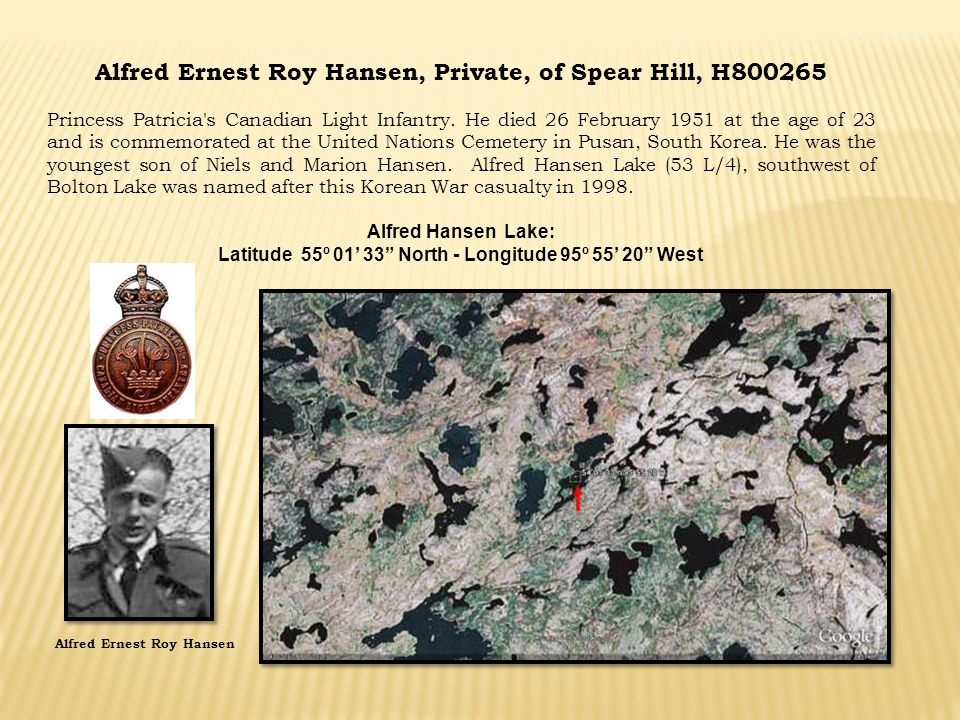 Alfred Ernest Roy Hansen, Private, of Spear Hill, H800265