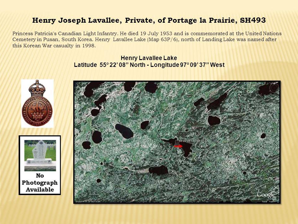 Latitude 55º 22' 08 North - Longitude 97º 09' 37 West