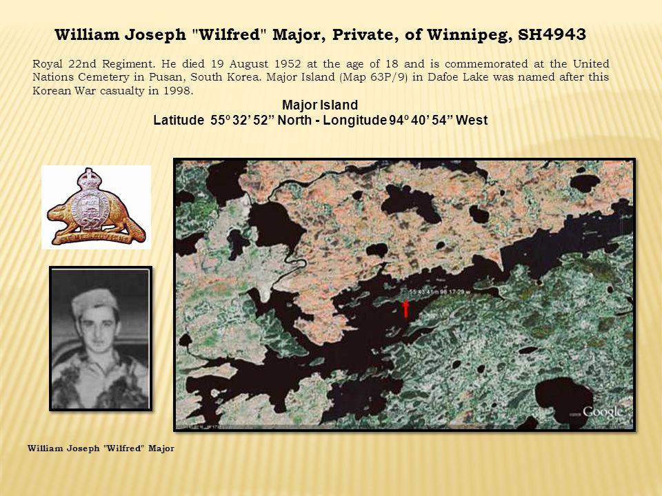 William Joseph Wilfred Major, Private, of Winnipeg, SH4943