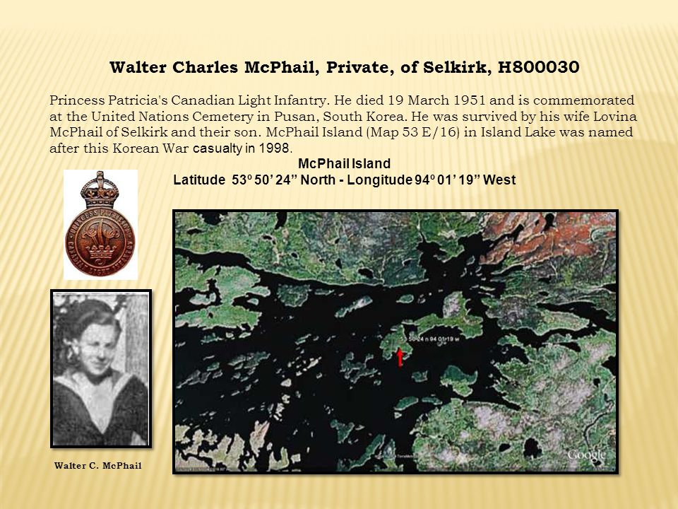 Walter Charles McPhail, Private, of Selkirk, H800030
