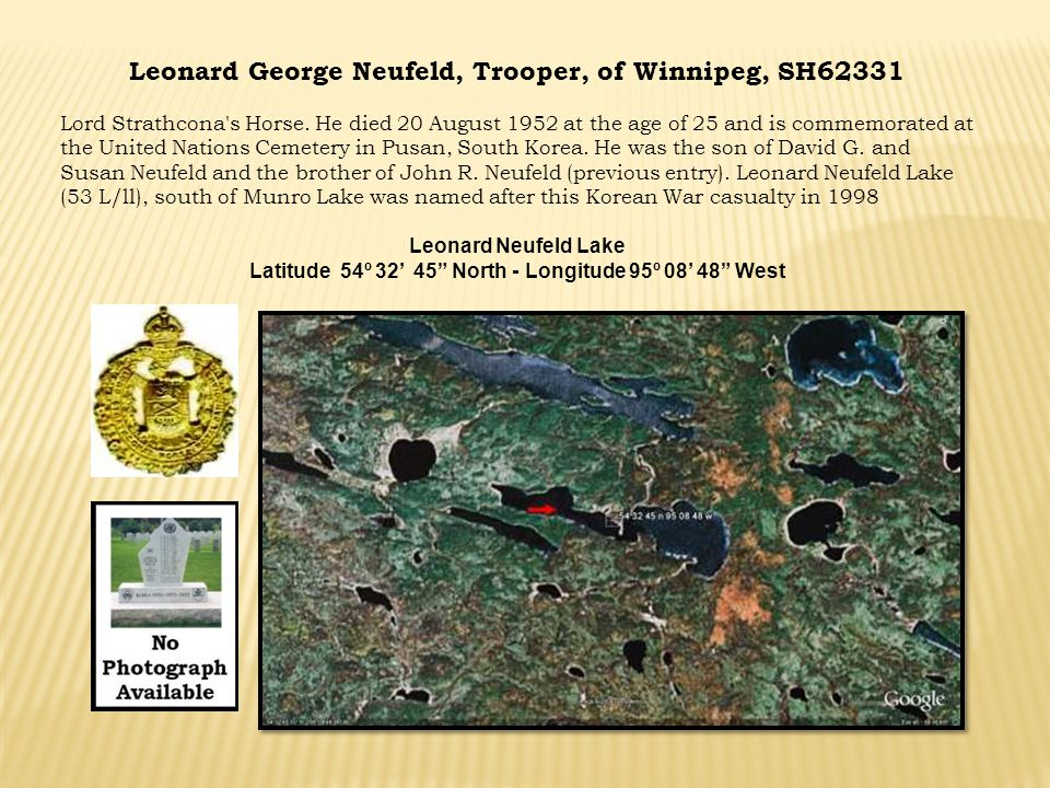 Leonard George Neufeld, Trooper, of Winnipeg, SH62331