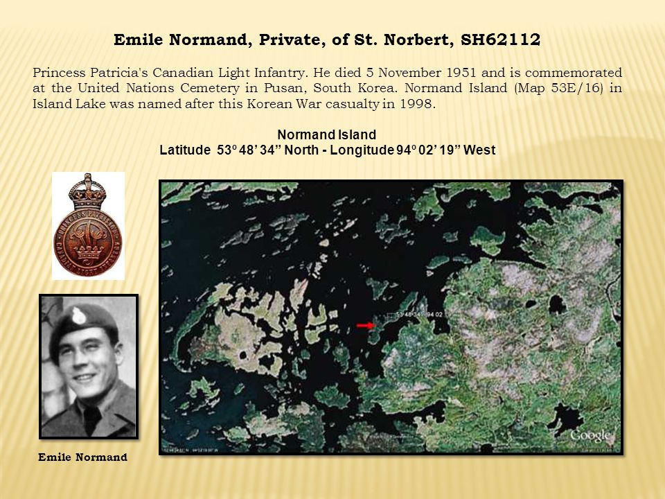 Emile Normand, Private, of St. Norbert, SH62112