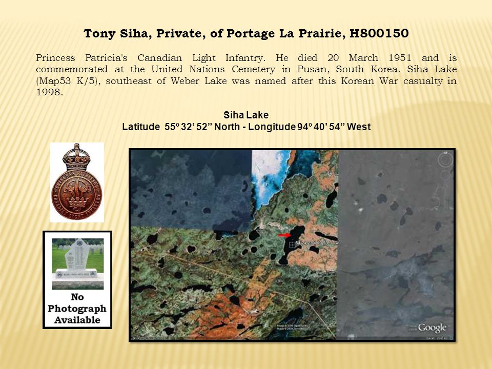 Tony Siha, Private, of Portage La Prairie, H800150