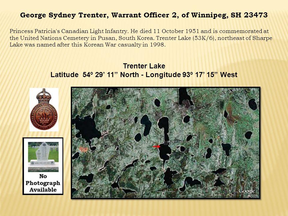 George Sydney Trenter, Warrant Officer 2, of Winnipeg, SH 23473