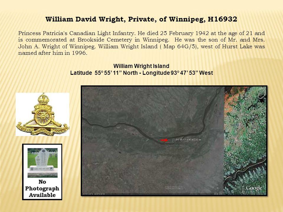 William David Wright, Private, of Winnipeg, H16932