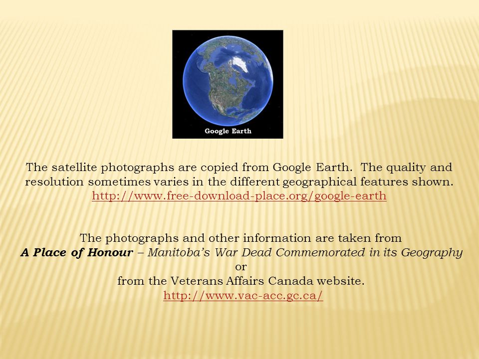 The photographs and other information are taken from