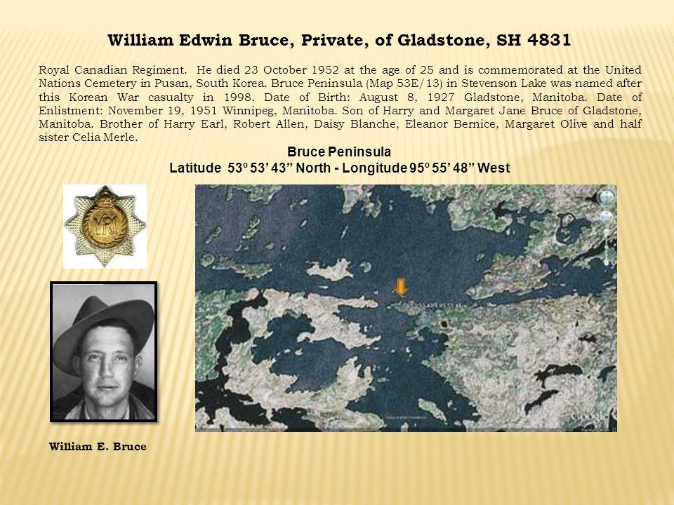 William Edwin Bruce, Private, of Gladstone, SH 4831