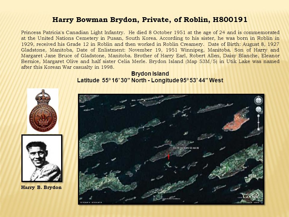 Harry Bowman Brydon, Private, of Roblin, H800191