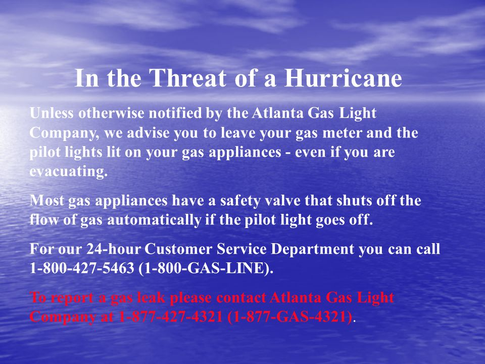 In the Threat of a Hurricane