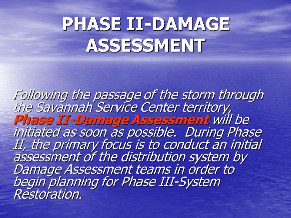 PHASE II-DAMAGE ASSESSMENT