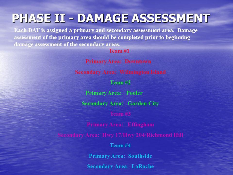 PHASE II - DAMAGE ASSESSMENT