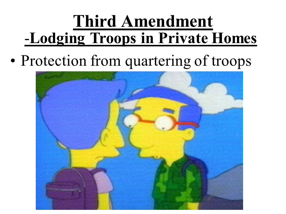 -Lodging Troops in Private Homes