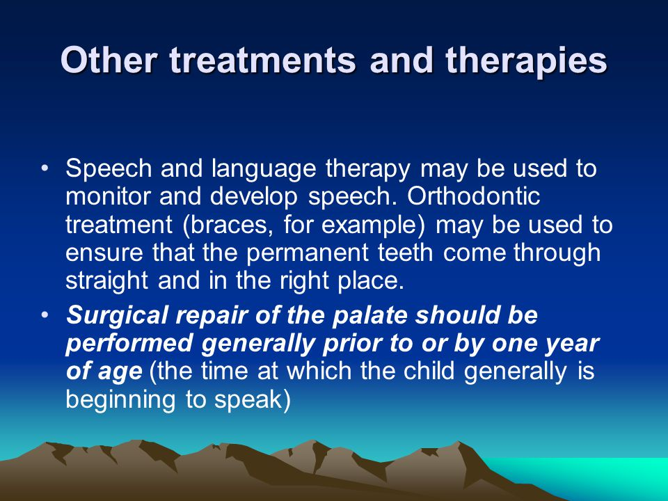 Other treatments and therapies